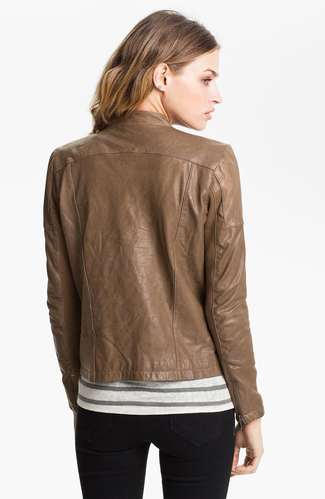 ,                             Leather Moto Jacket,                             Alternate thumbnail 2, color,                             250