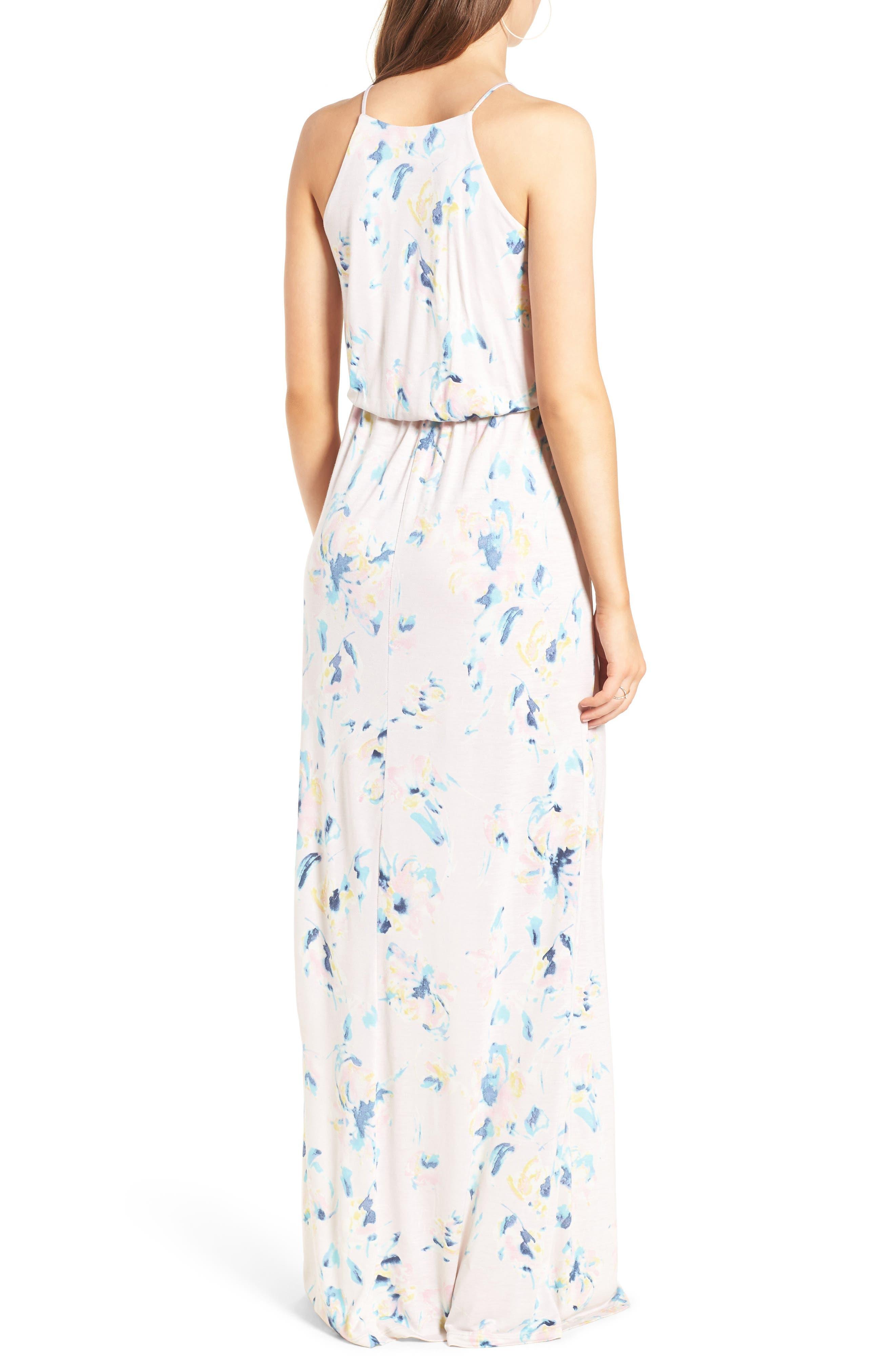 ,                             High Neck Maxi Dress,                             Alternate thumbnail 127, color,                             650