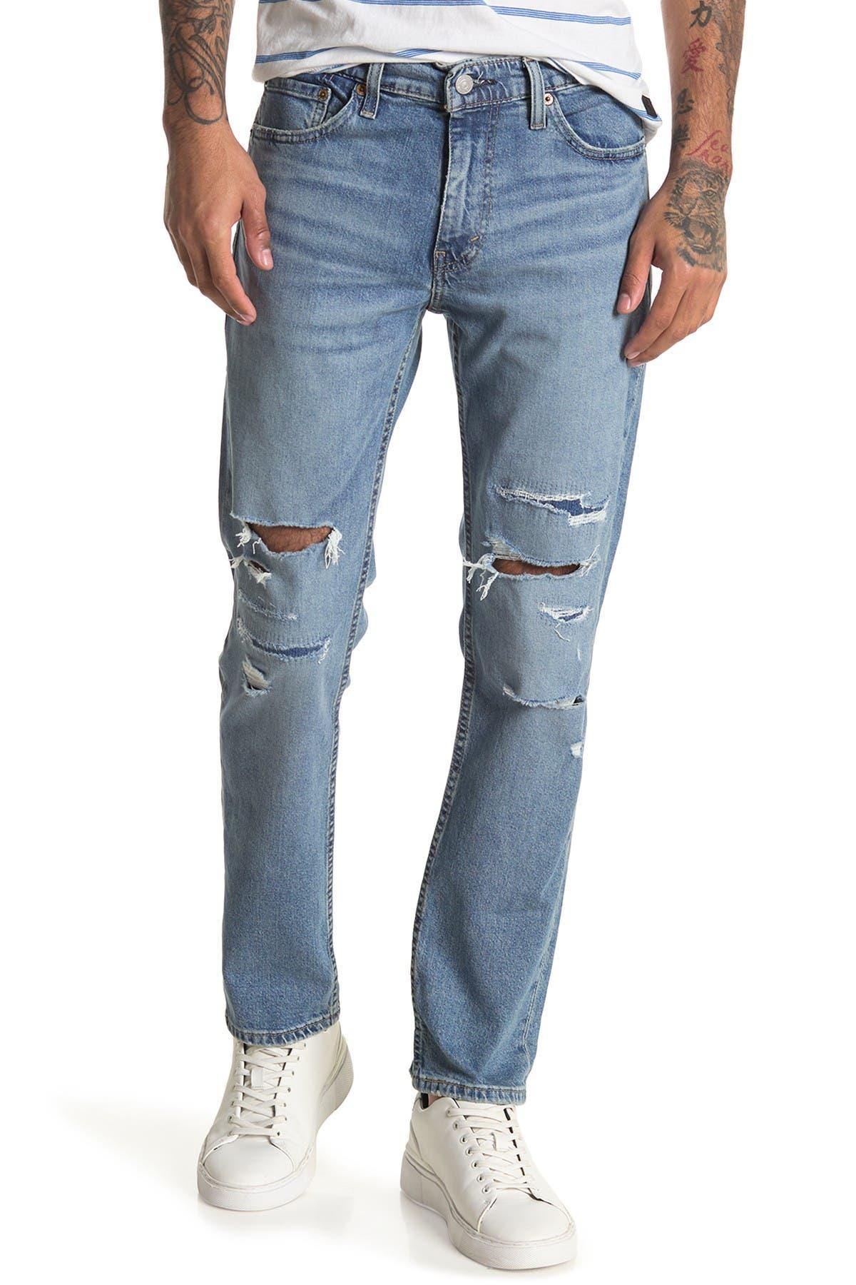 "Image of Levi's 511 Distressed Slim Jeans - 30-32"" Inseam"
