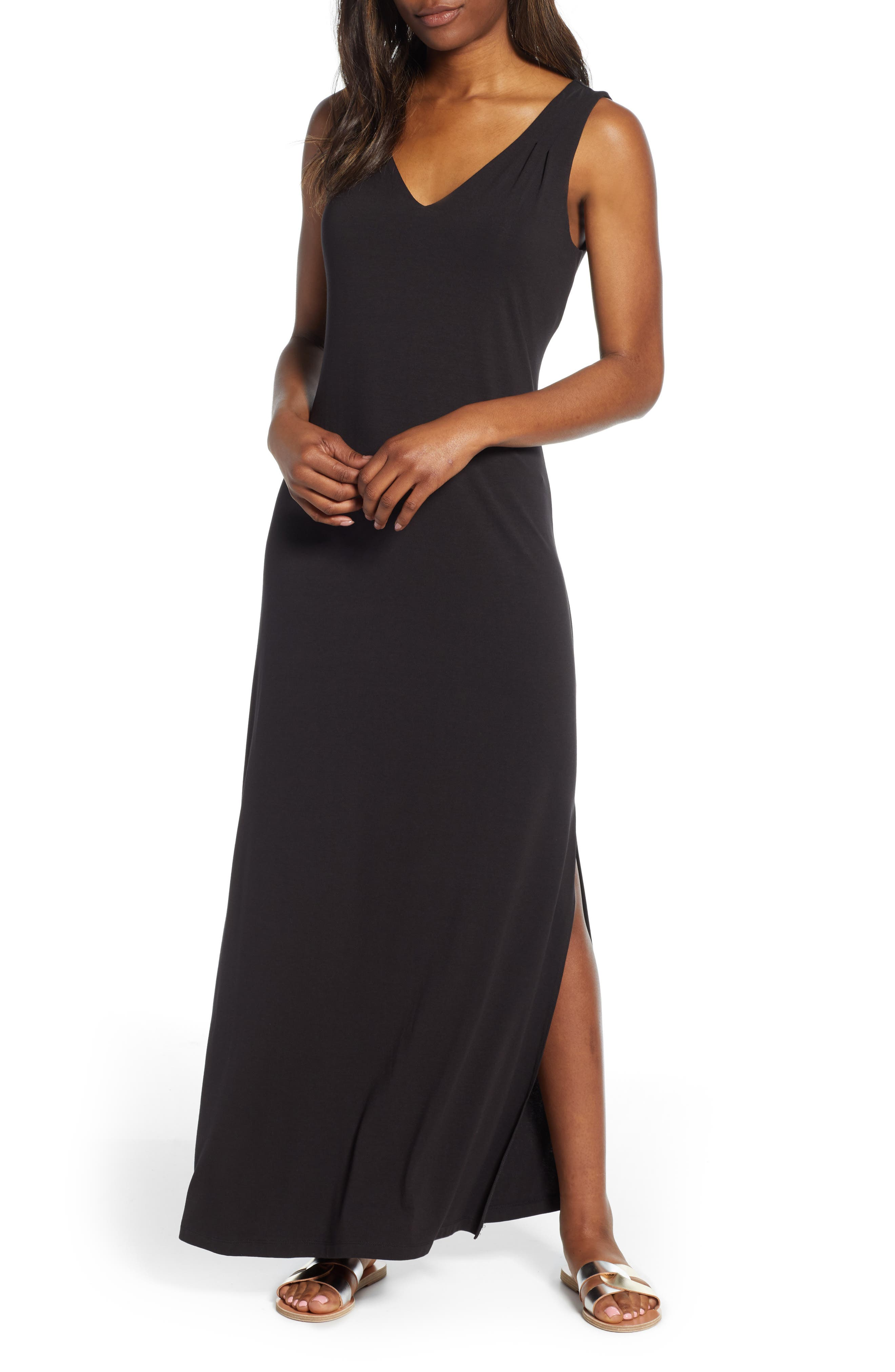 Tommy Bahama Tambour Maxi Dress, Black