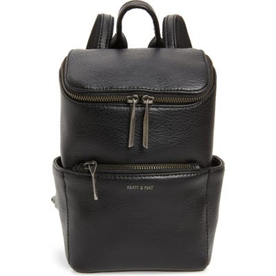 Matt & Nat Mini Brave Faux Leather Backpack - Black
