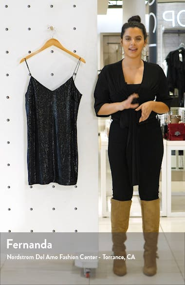 Glitter Velvet Mini Slipdress, sales video thumbnail