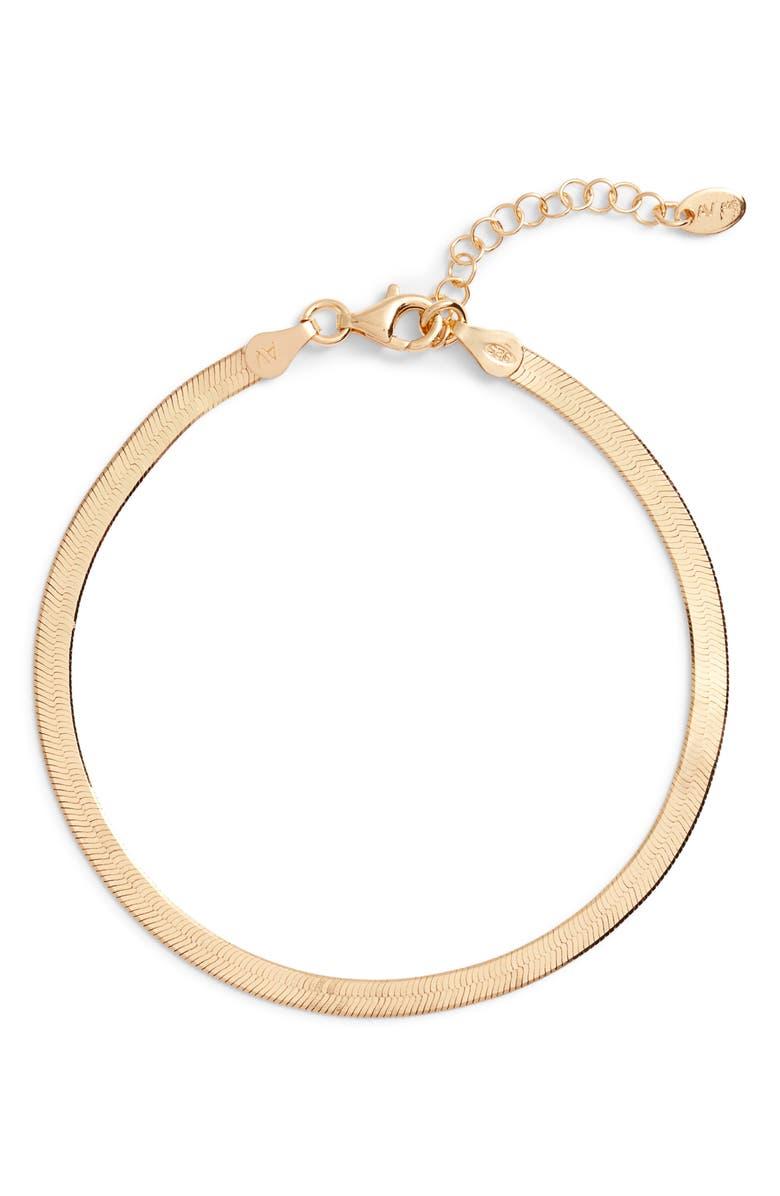 ARGENTO VIVO Snake Chain Bracelet, Main, color, GOLD