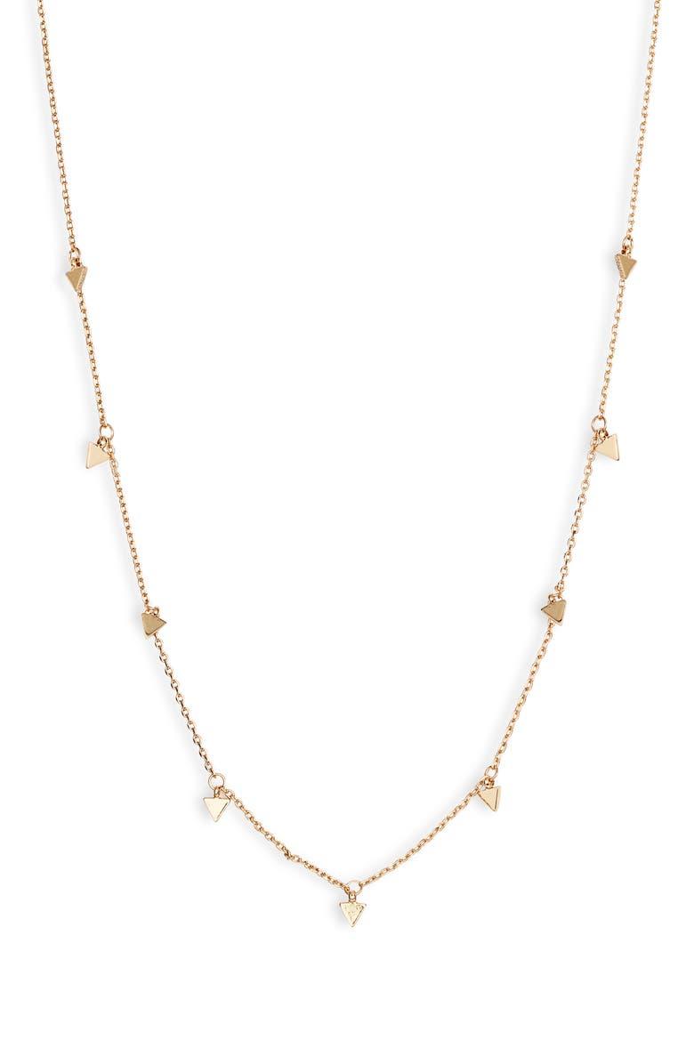 UNCOMMON JAMES BY KRISTIN CAVALLARI Majestic Station Necklace, Main, color, GOLD