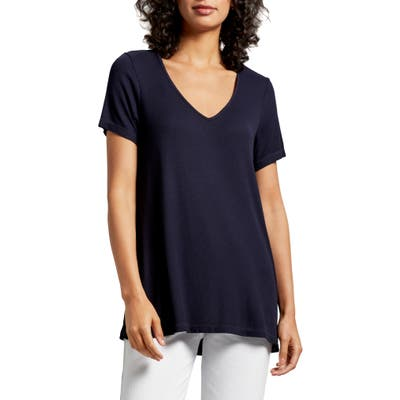 Michael Stars Kaley V-Neck Swing Tee, Size One Size - Blue/green