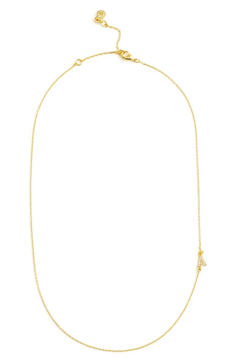 BAUBLEBAR Diamanda Letter Necklace, Main, color, A GOLD