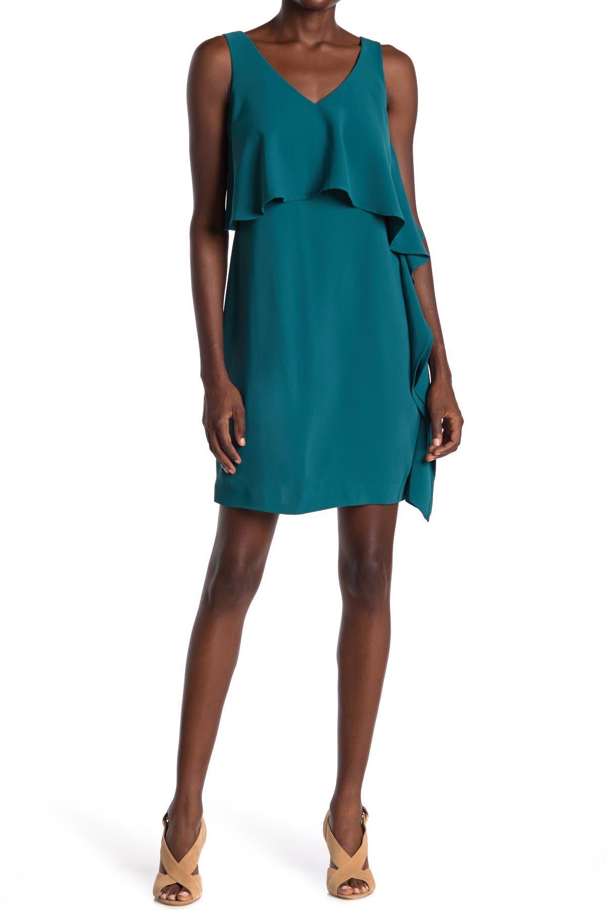 Image of trina Trina Turk Junya Popover Ruffle Sheath Dress