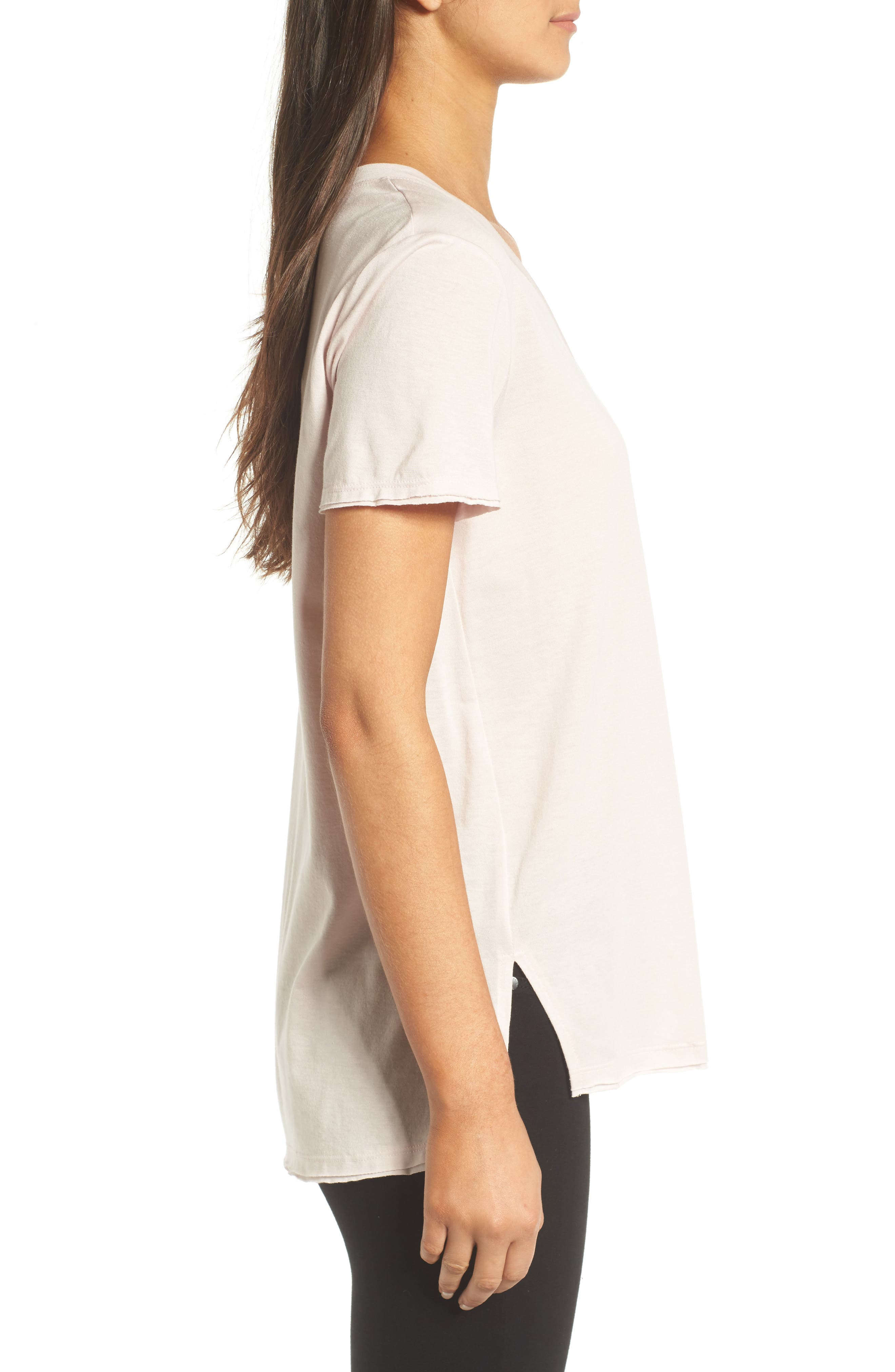 ,                             Raw Edge Side Slit Tee,                             Alternate thumbnail 15, color,                             680