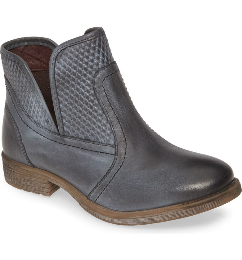 ROAN Gossip Bootie, Main, color, GREY/ WHITE LEATHER