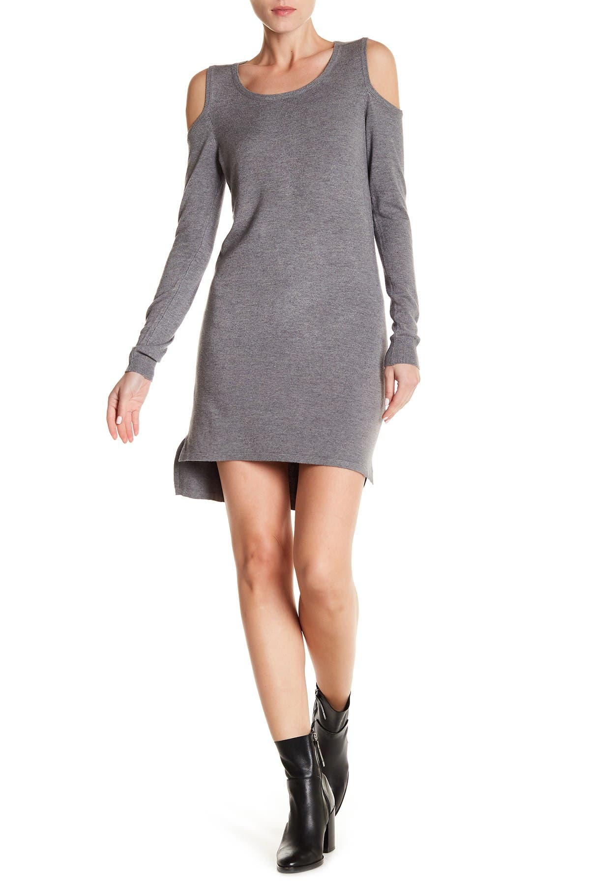 Image of Love Stitch Cold Shoulder Sweater Dress