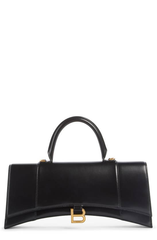 Balenciaga HOURGLASS STRETCHED LEATHER TOP HANDLE BAG