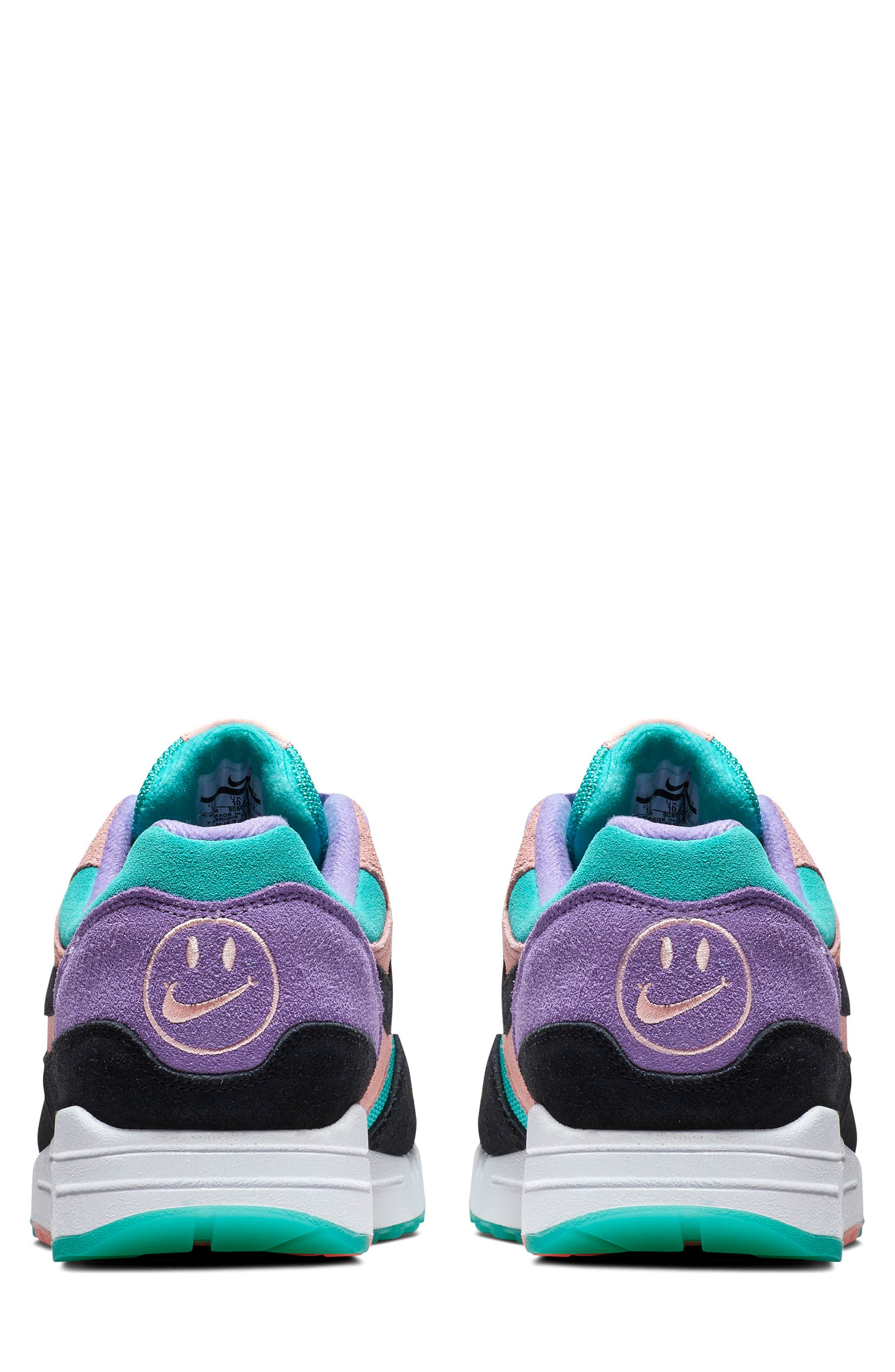 ,                             Air Max 1 Have a Nike Day Sneaker,                             Alternate thumbnail 2, color,                             SPACE PURPLE/ BLACK/ CORAL