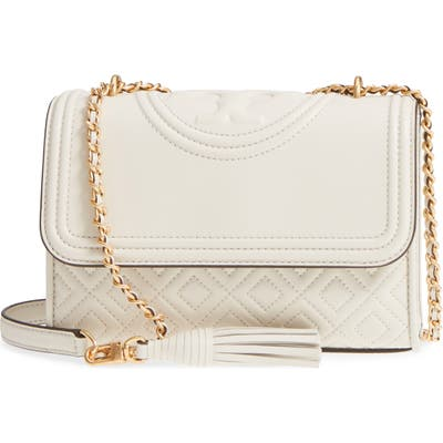 Tory Burch Small Fleming Leather Convertible Shoulder Bag -