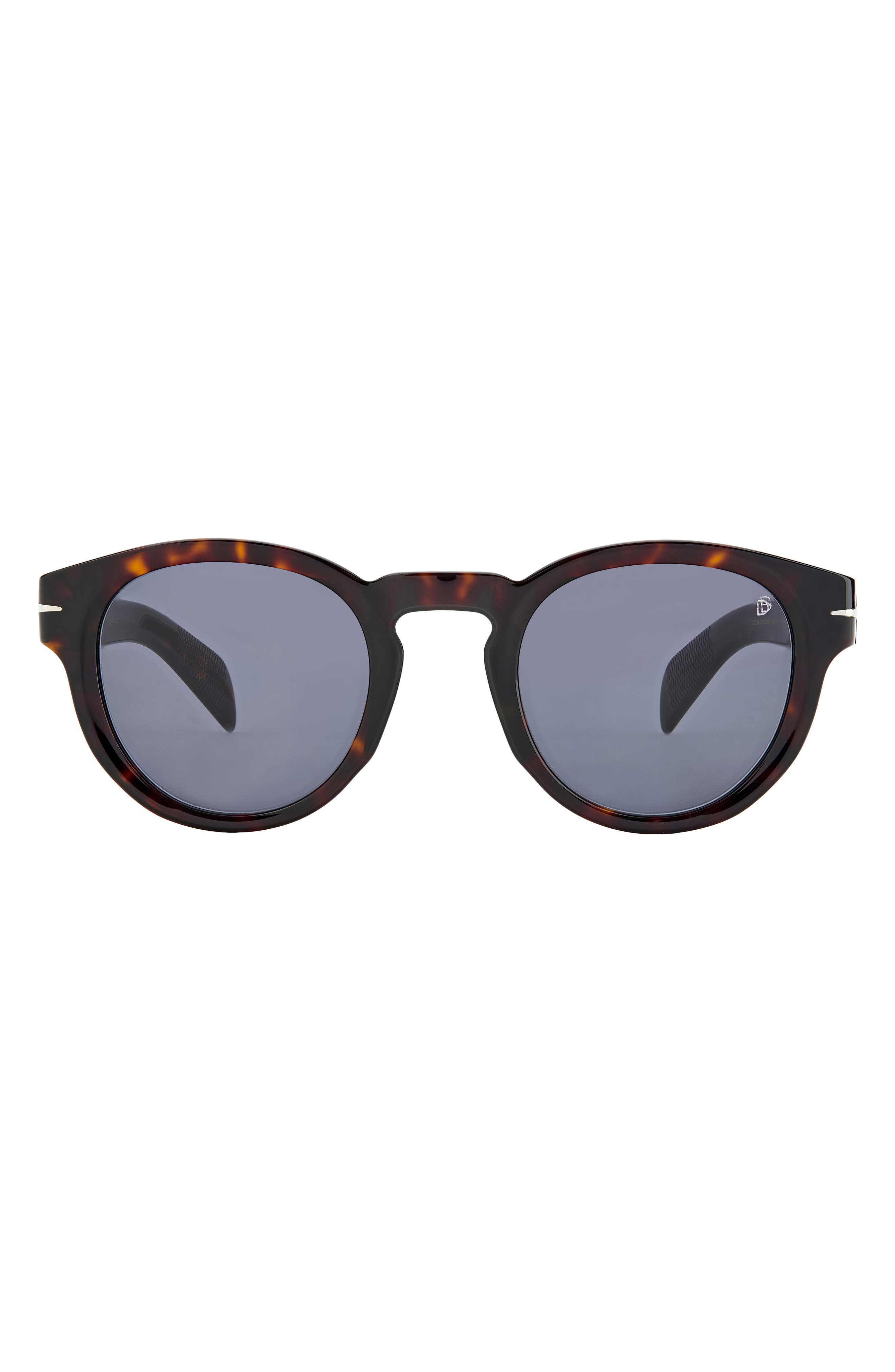 Men's David Beckham 48mm Round Sunglasses