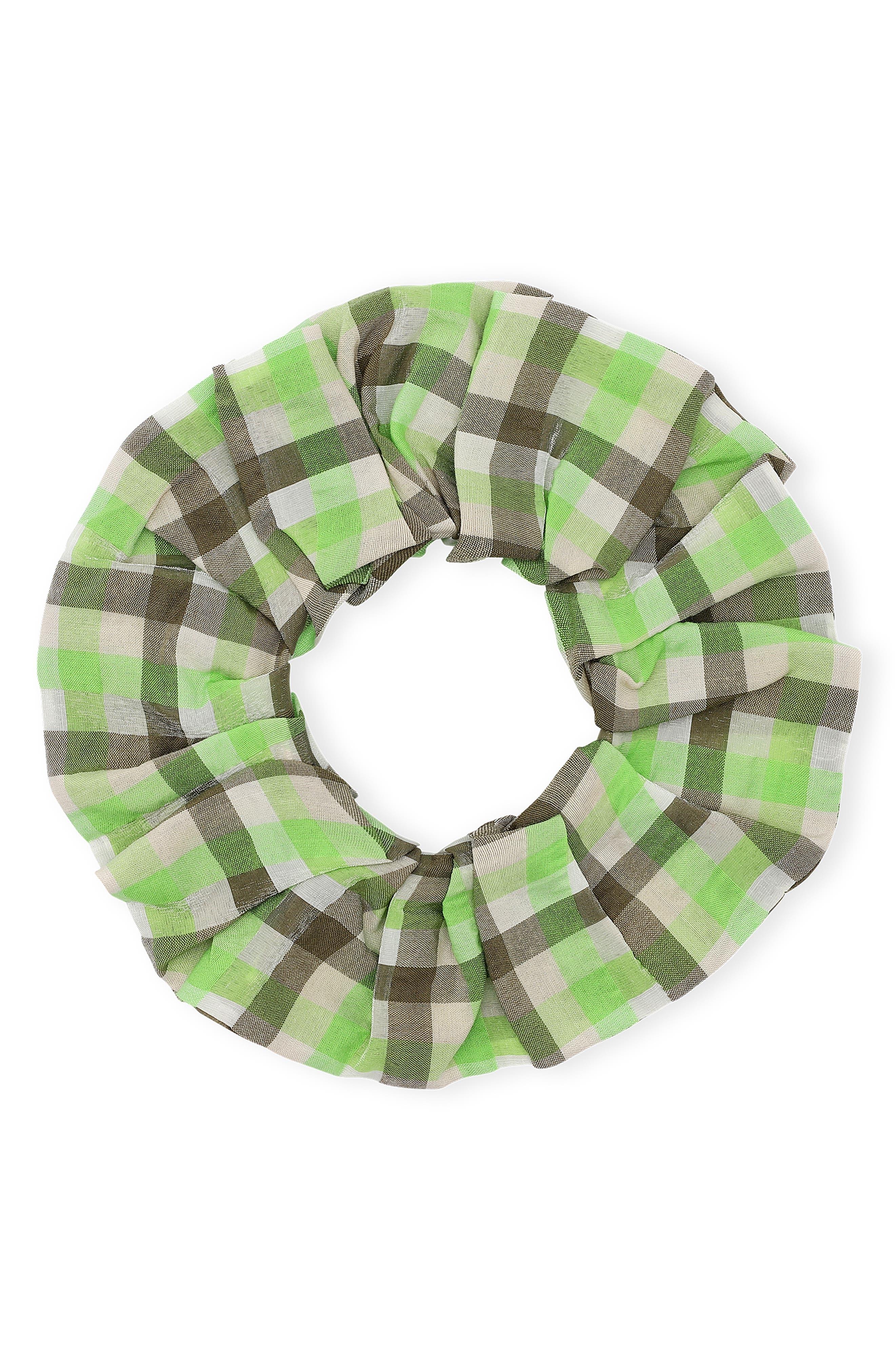 Plaid Organic Cotton Blend Scrunchie