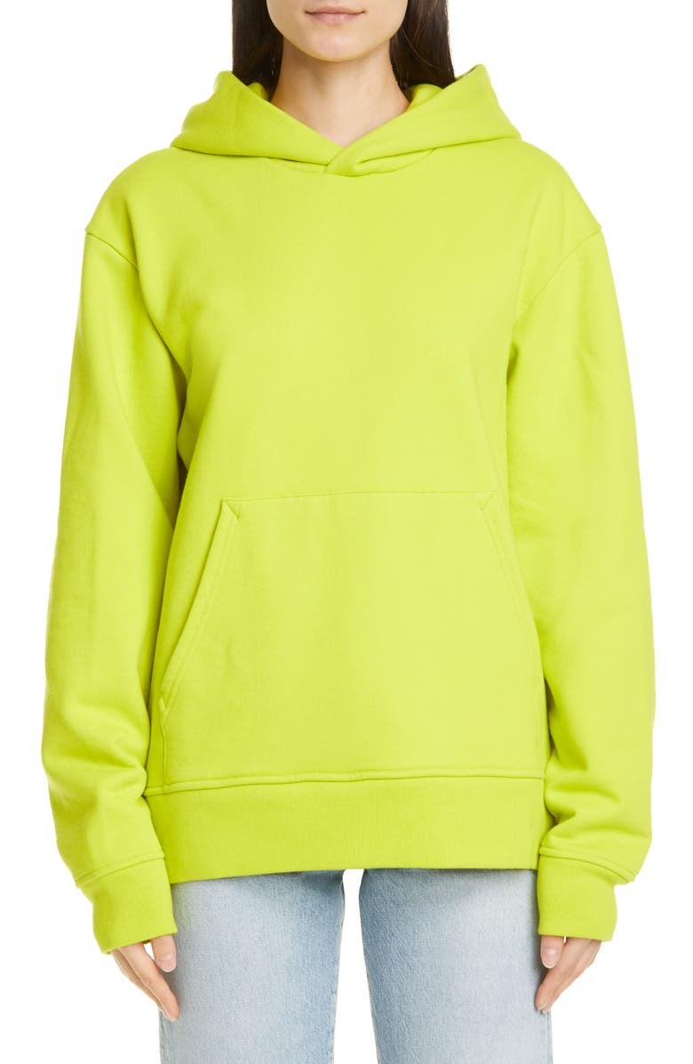 ACNE STUDIOS Forres Pink Label Hoodie, Main, color, SHARP YELLOW