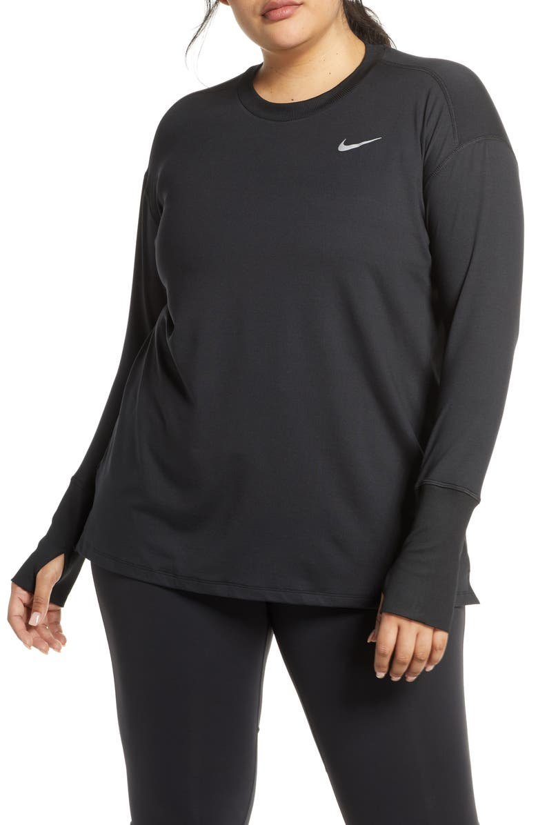 NIKE Dry Element Long Sleeve Top, Main, color, 010