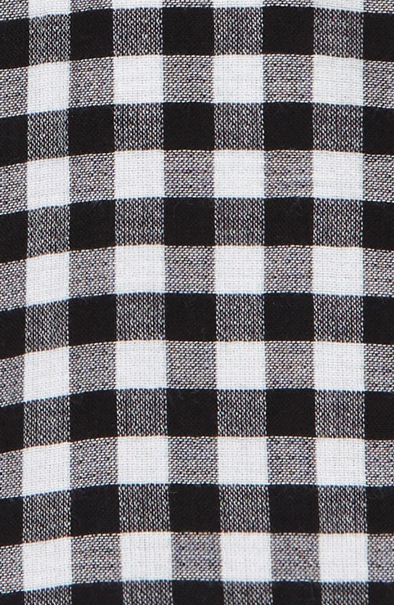 ,                             Check Shorts,                             Alternate thumbnail 2, color,                             BLACK- WHITE GINGHAM