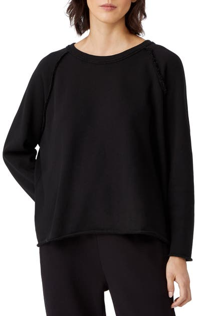 Eileen Fisher RAGLAN ORGANIC COTTON SWEATSHIRT