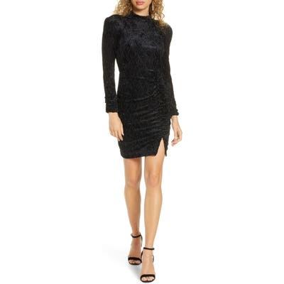 Ali & Jay Ha Cha Cha Long Sleeve Velvet Minidress, Black