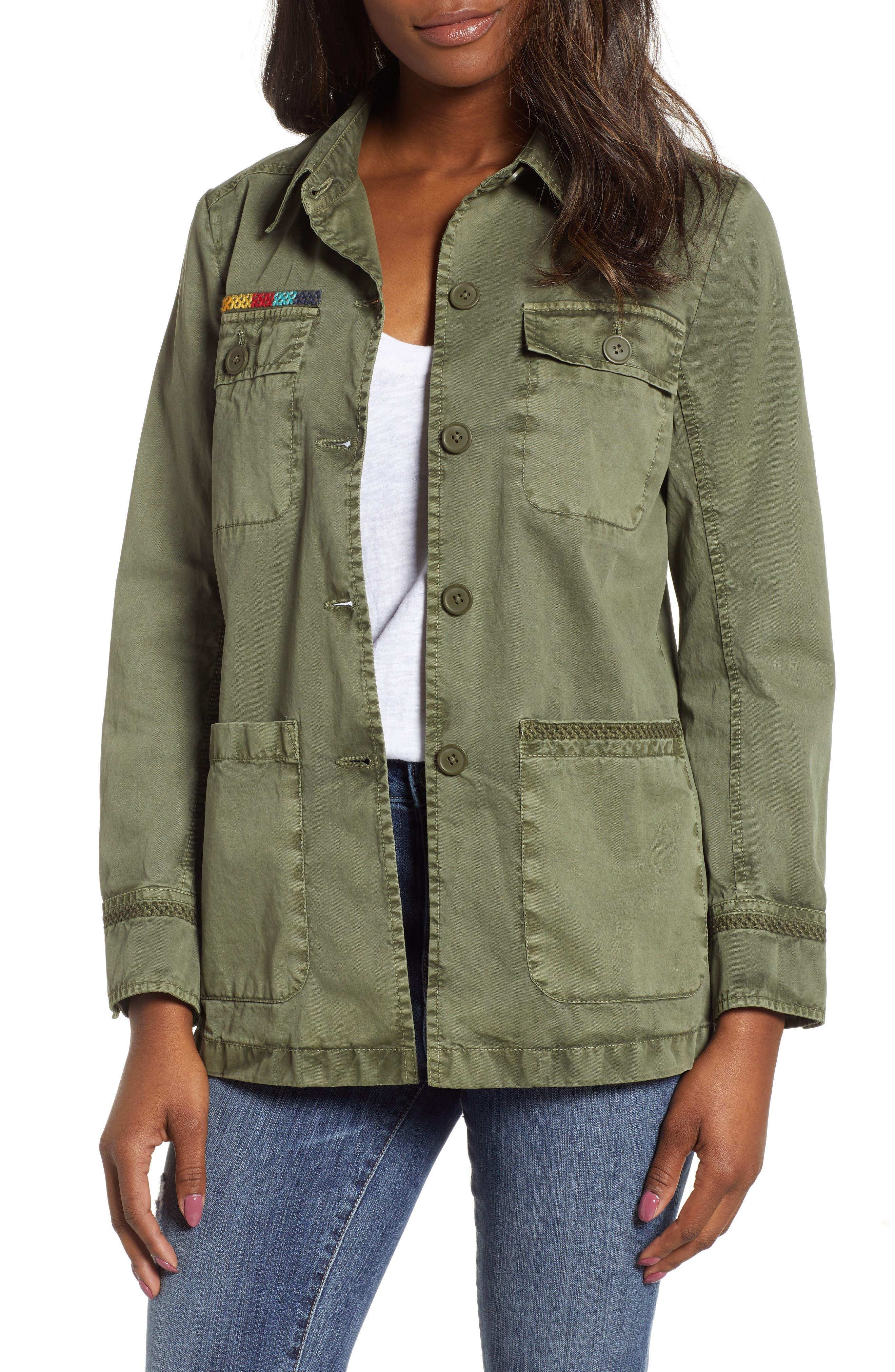 ,                             Utility Jacket,                             Main thumbnail 1, color,                             GREEN BEETLE