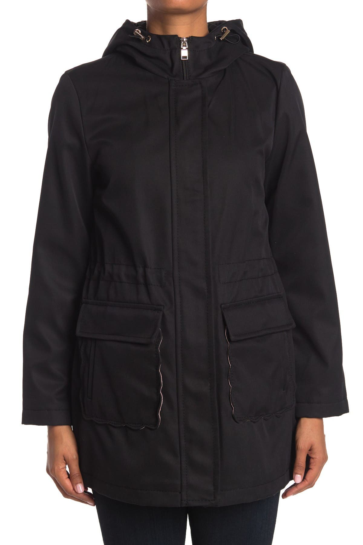 Kate spade new york hooded water resistant trench coat