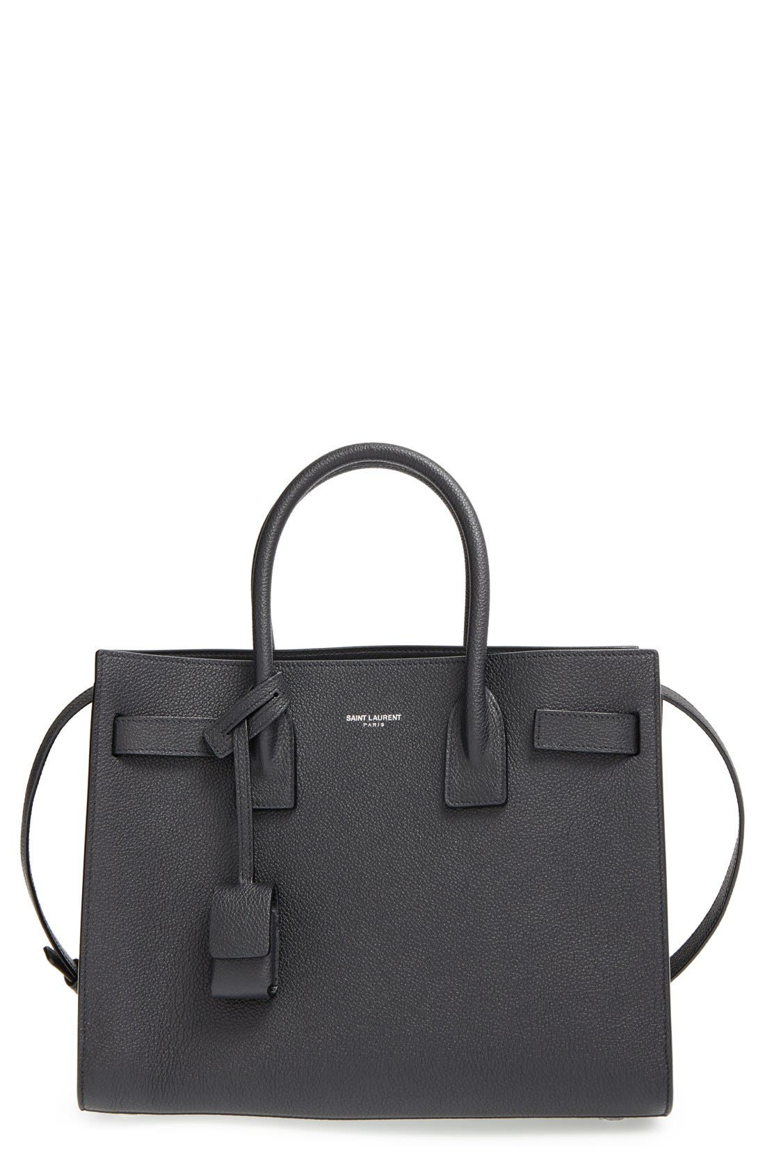'Baby Sac de Jour' Calfskin Leather Tote, Main, color, 001