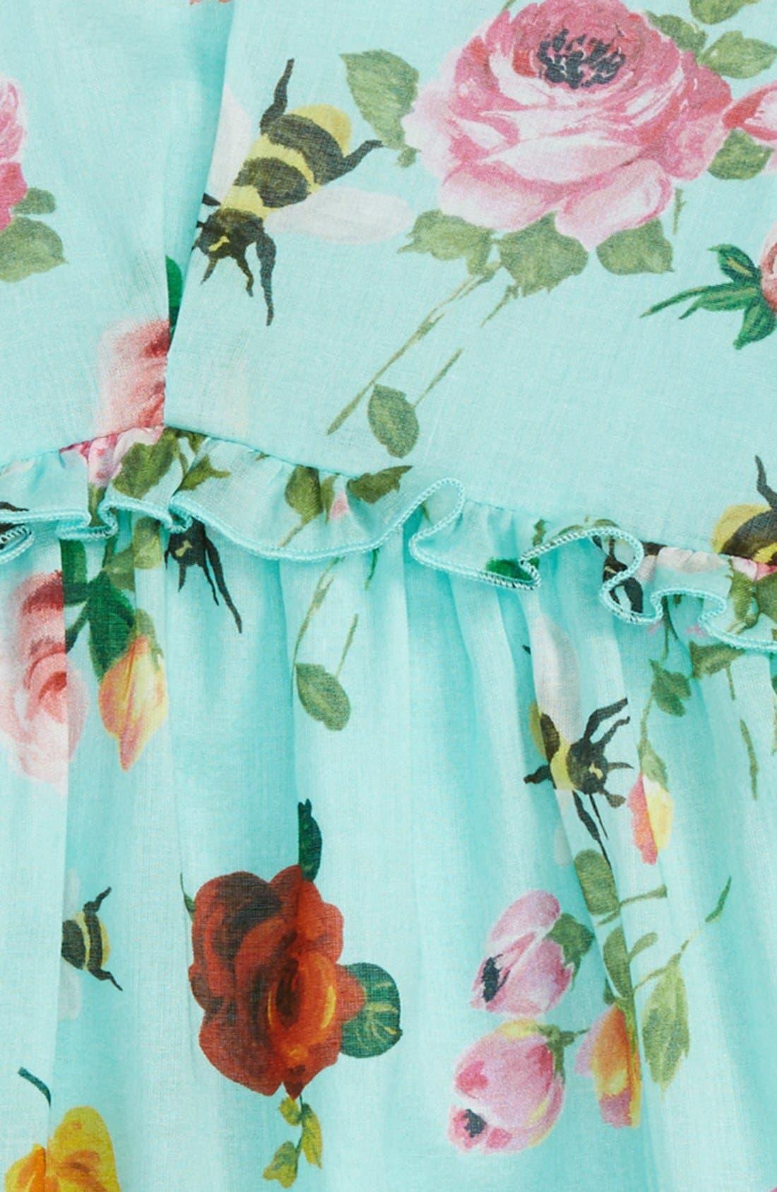 ,                             Floral Print Long Sleeve Dress,                             Alternate thumbnail 2, color,                             440