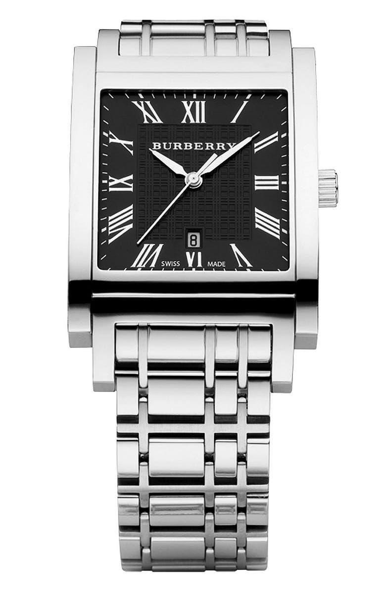 BURBERRY Men's Stainless Steel Bracelet Watch, Main, color, 040