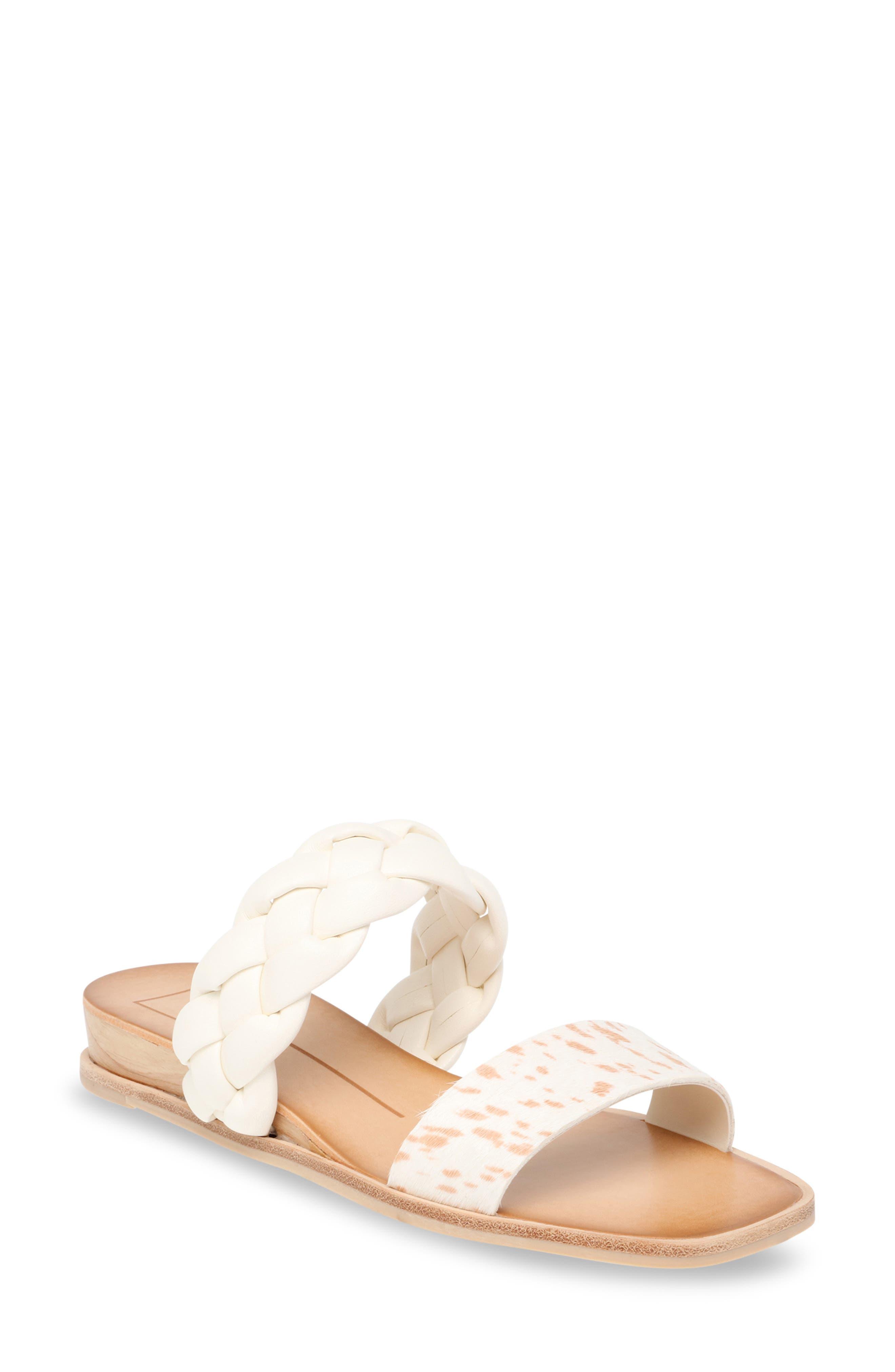Persey Genuine Calf Hair Slide Sandal