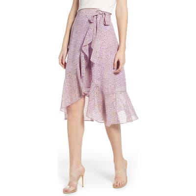 J.o.a. Flounced Wrap Skirt, Purple