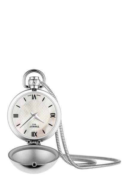 Image of Tissot Men's Mother of Pearl Pocket Watch, 29mm