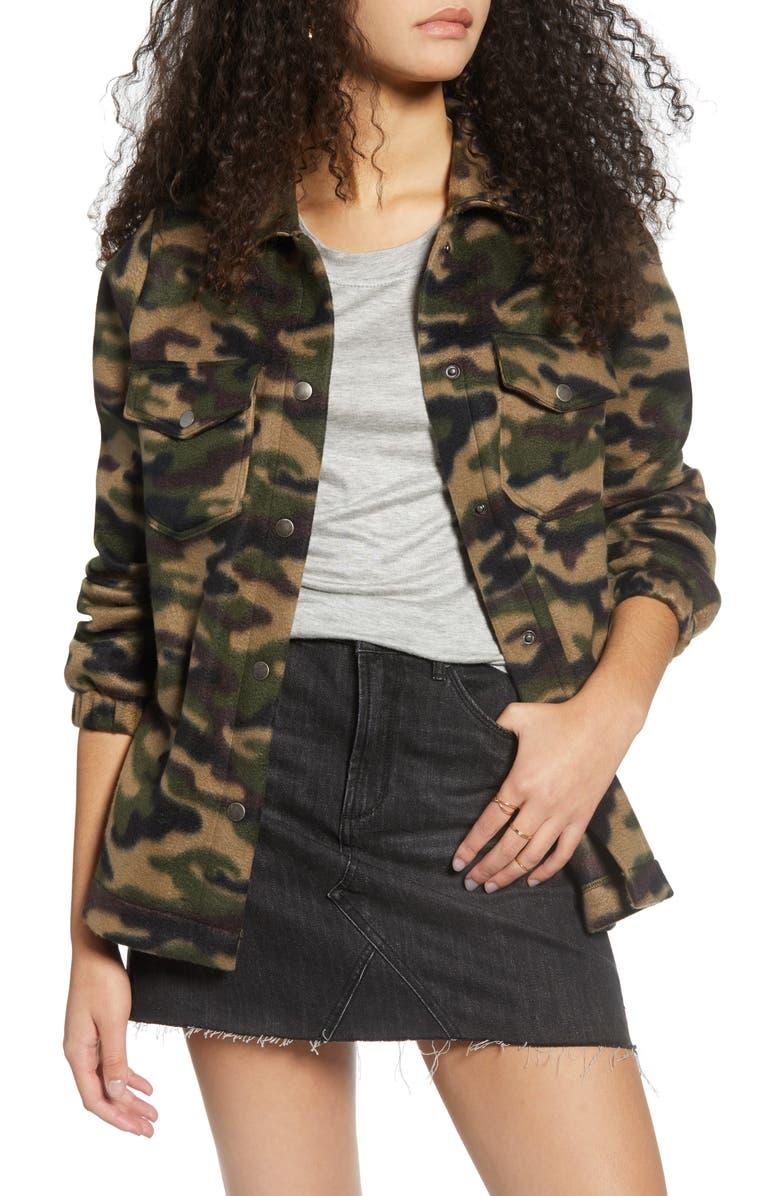 BP. Cozy Fleece Jacket, Main, color, OLIVE ITALY CAMO