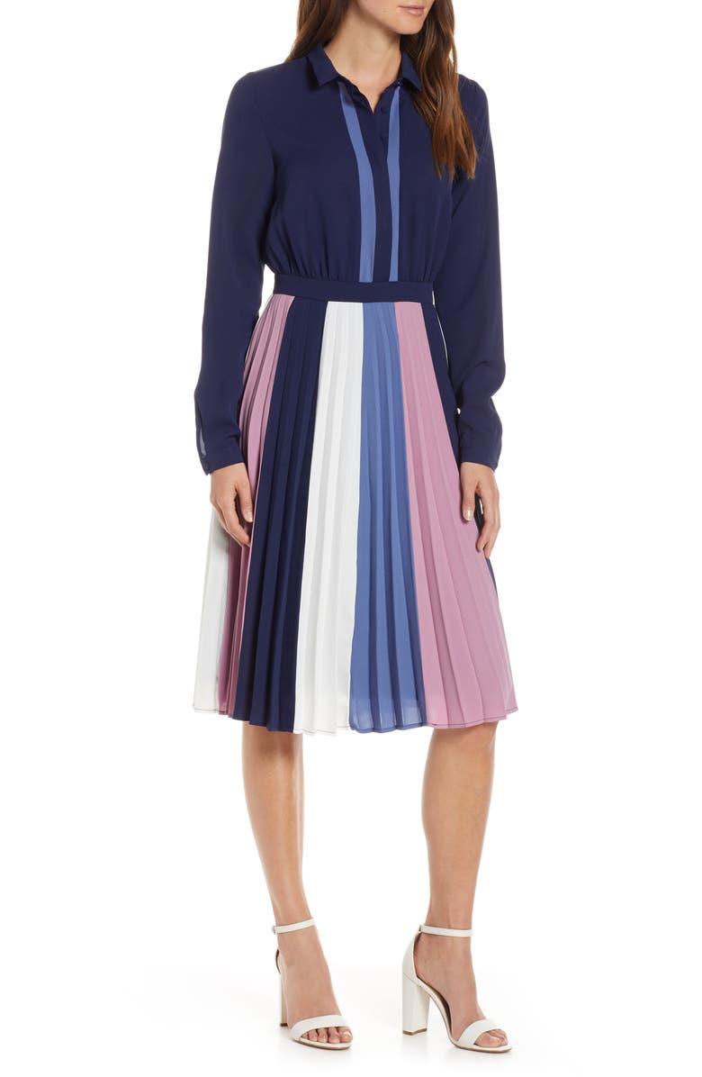 1901 Colorblock Midi Dress, Main, color, 400