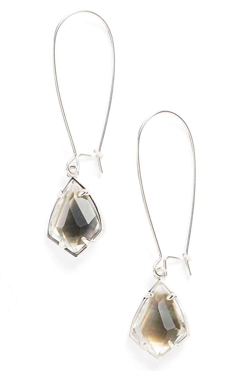 KENDRA SCOTT 'Carrine' Semiprecious Stone Drop Earrings, Main, color, 001