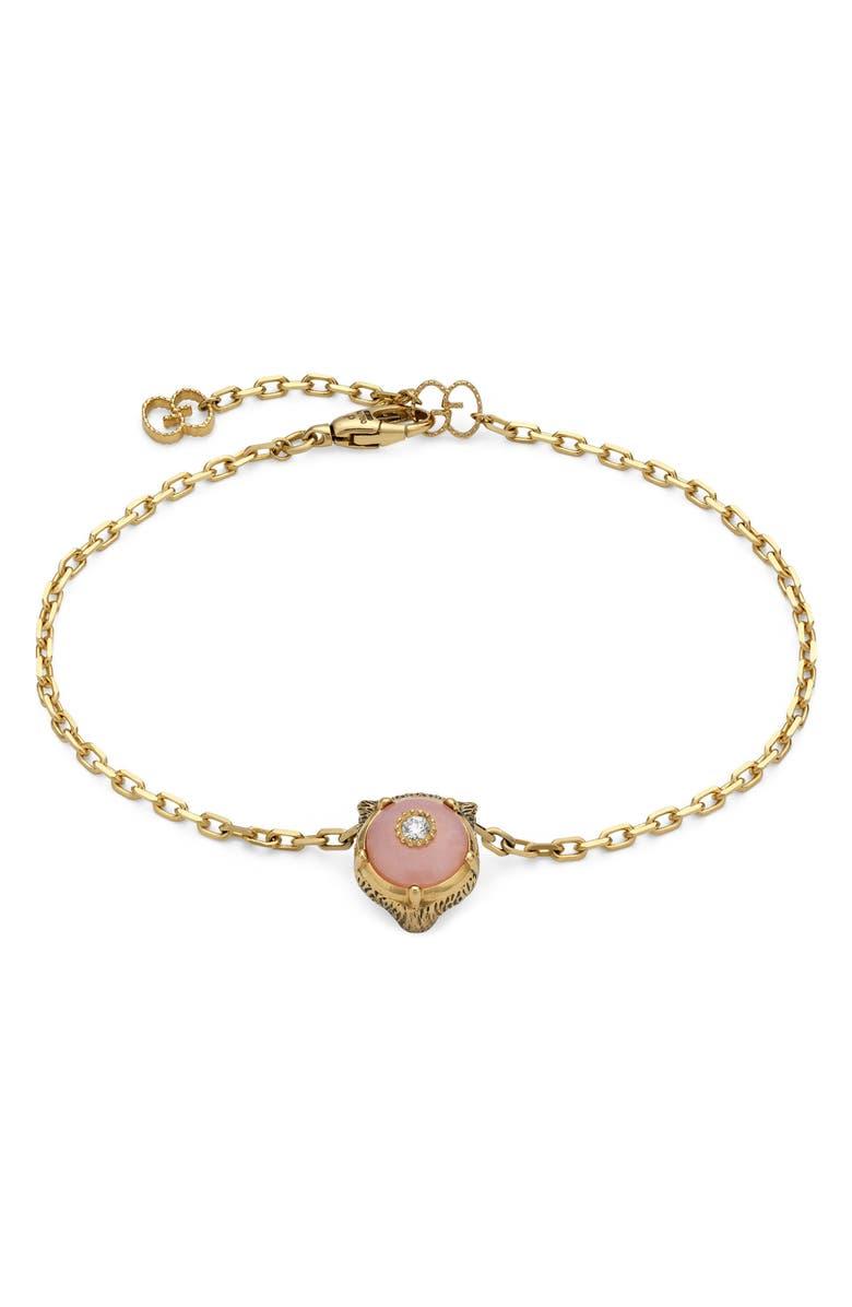 GUCCI Le Marché des Merveilles Feline Head Reversible Bracelet, Main, color, 710