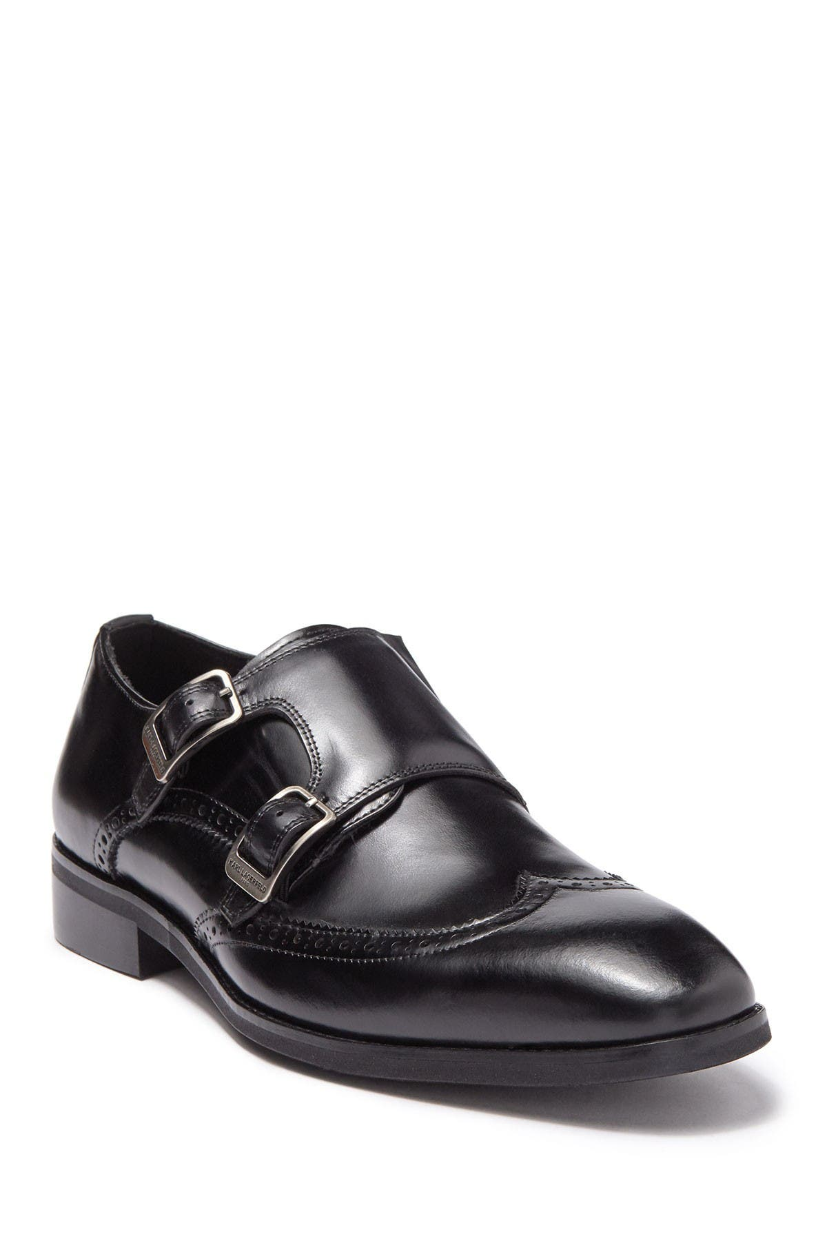 Image of Karl Lagerfeld Paris Double Monk Strap Wingtip Loafer