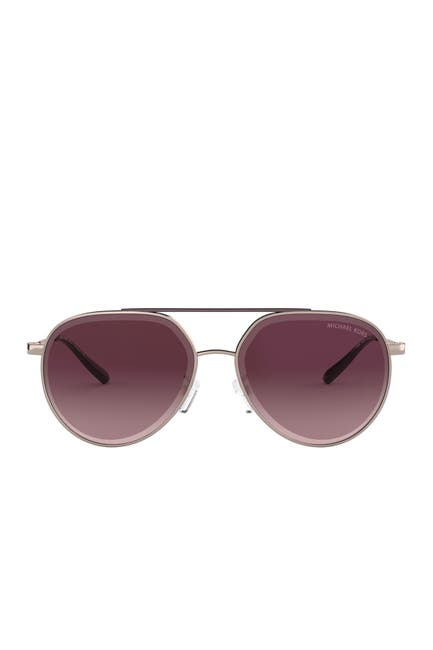 Image of Michael Kors Antigua 60mm Aviator Sunglasses