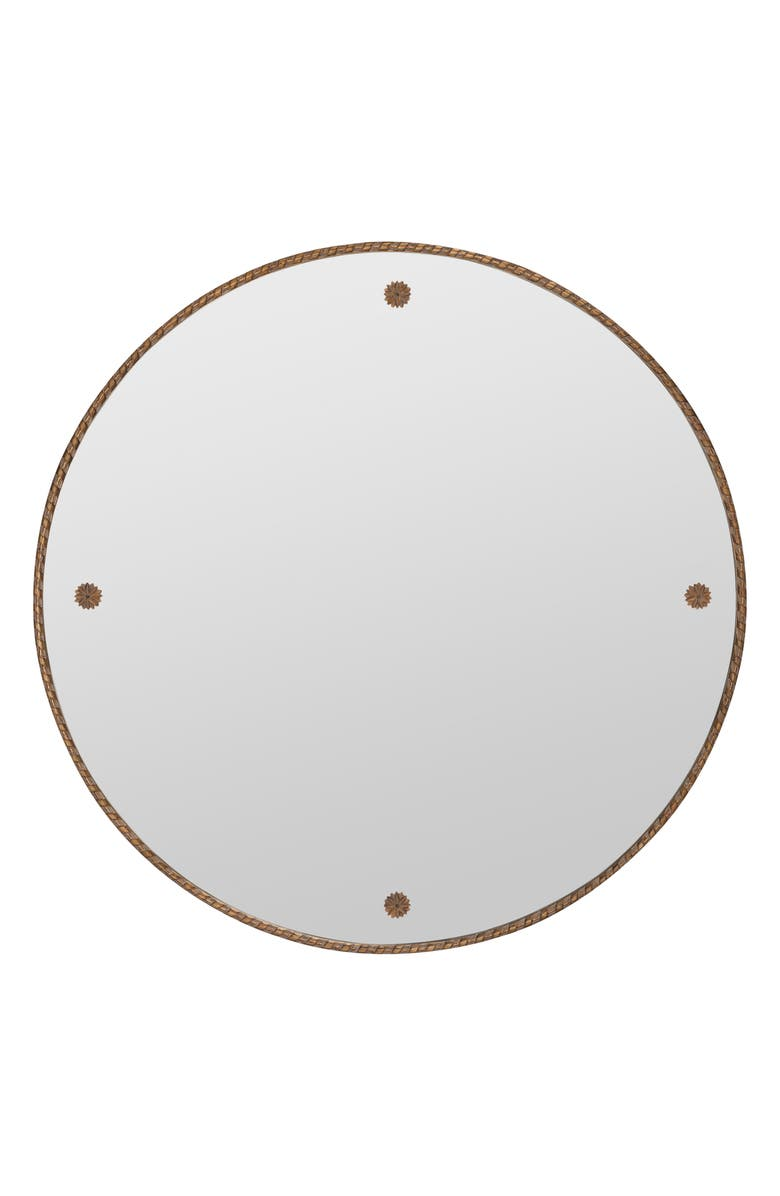 GEORGE AND CO Round Wall Mirror, Main, color, METALLIC GOLD