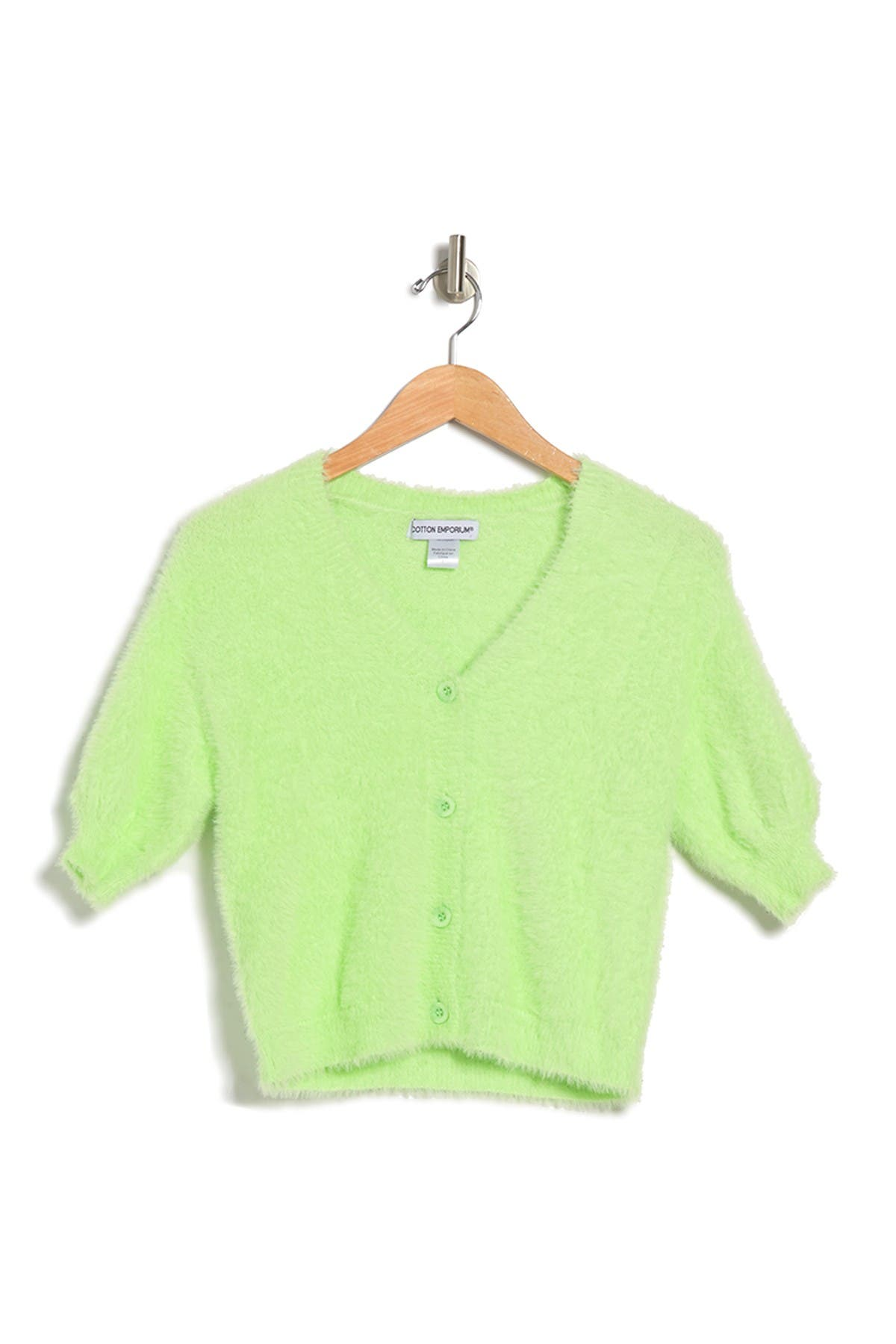 Image of Cotton Emporium Eyelash Button Front Cardigan