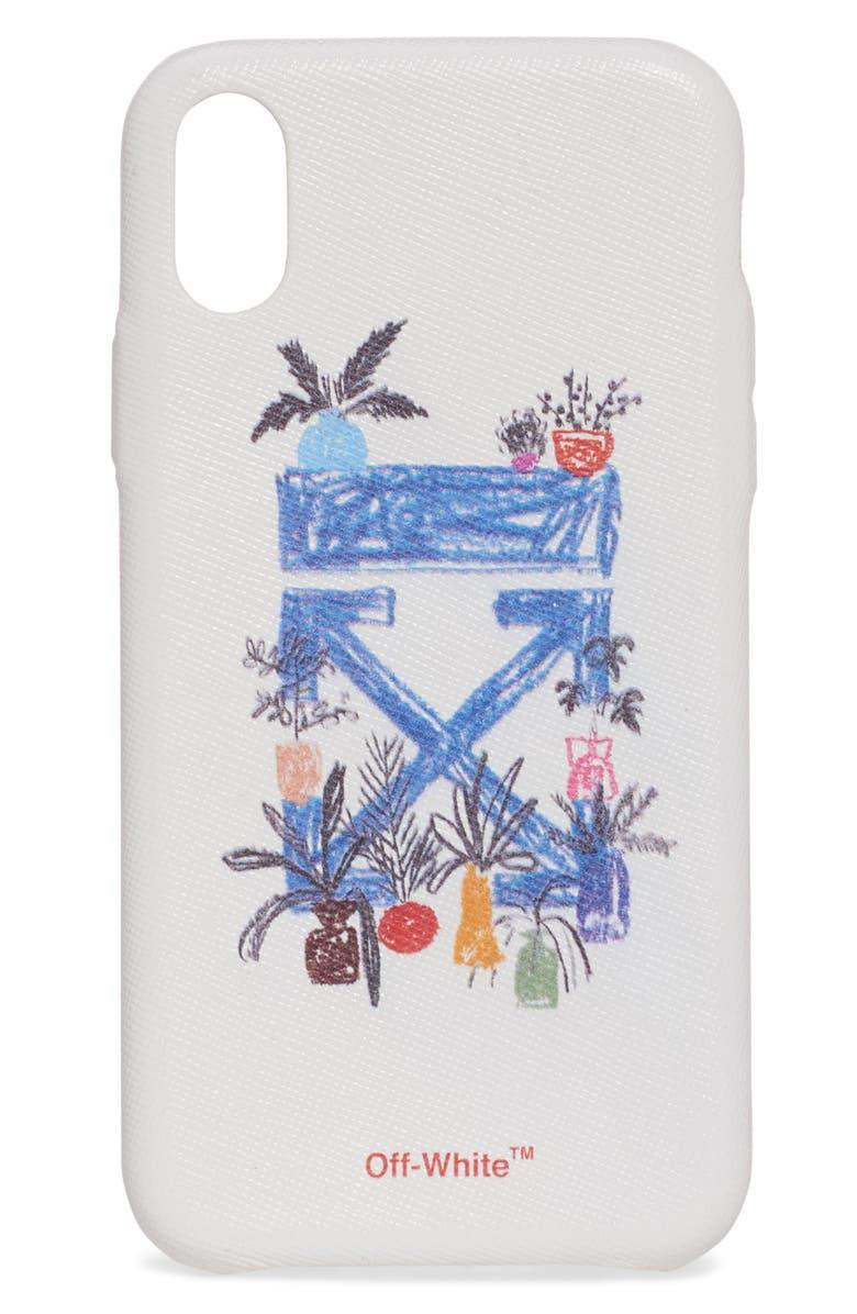 OFF-WHITE De Graft Arrow iPhone X/XS Case, Main, color, 100