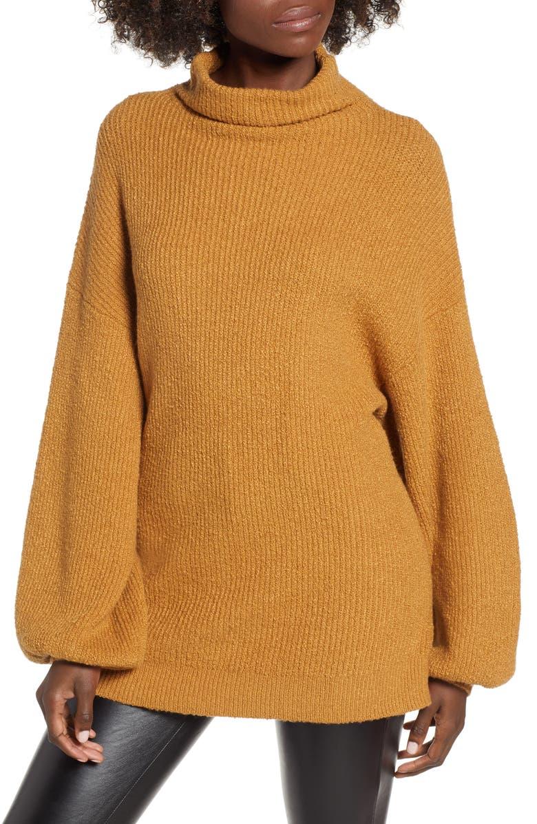 BP. Knit Funnel Neck Tunic, Main, color, 230