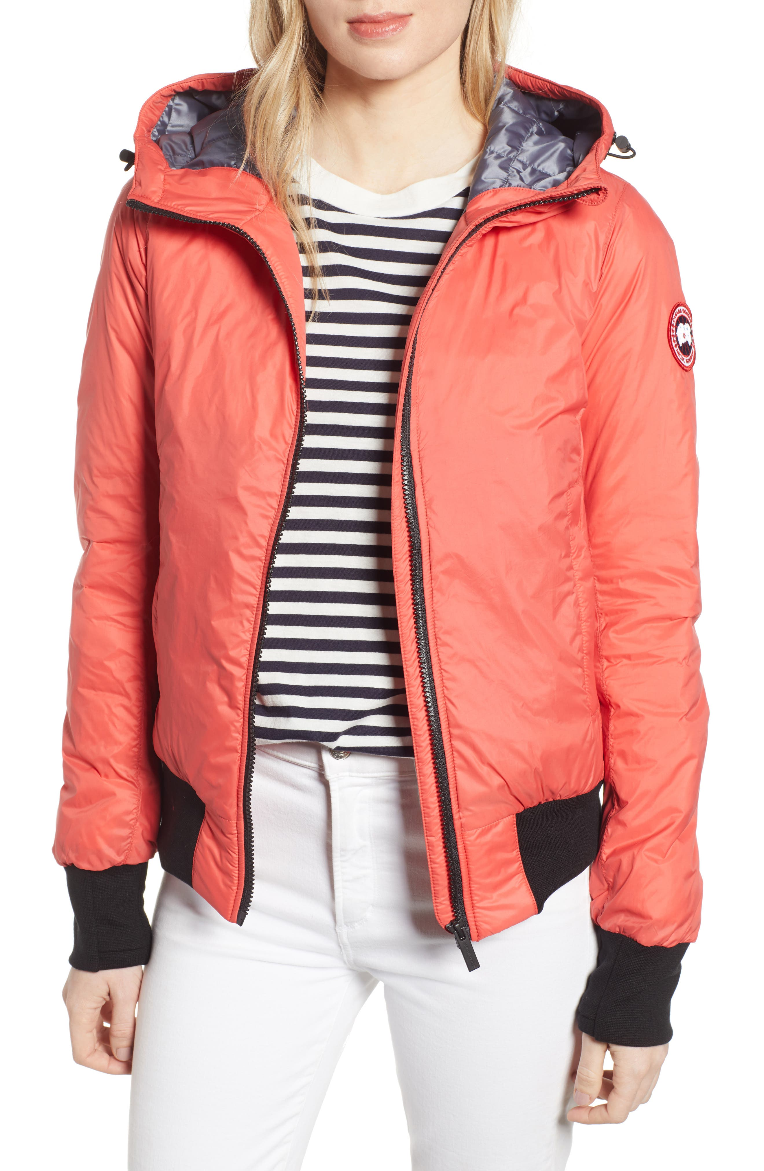 Canada Goose Dore Goose Down Hooded Jacket, (2-4) - Coral