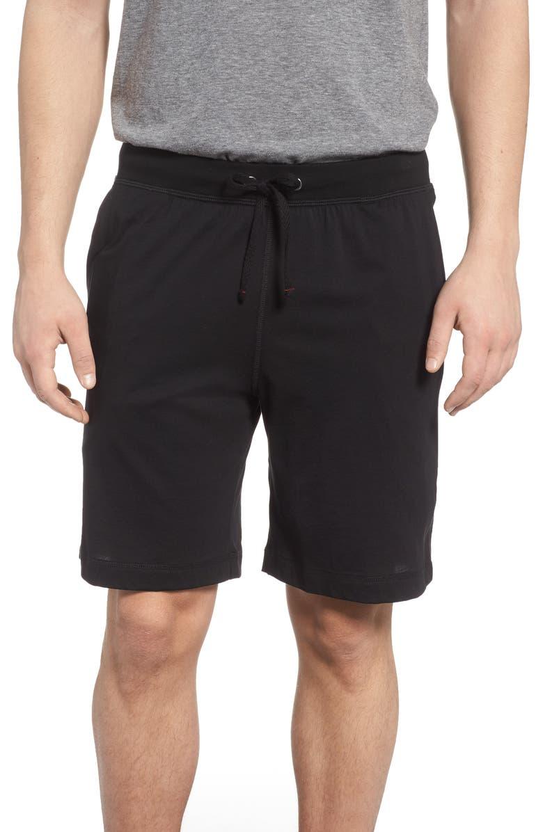 DANIEL BUCHLER Peruvian Pima Cotton Shorts, Main, color, BLACK