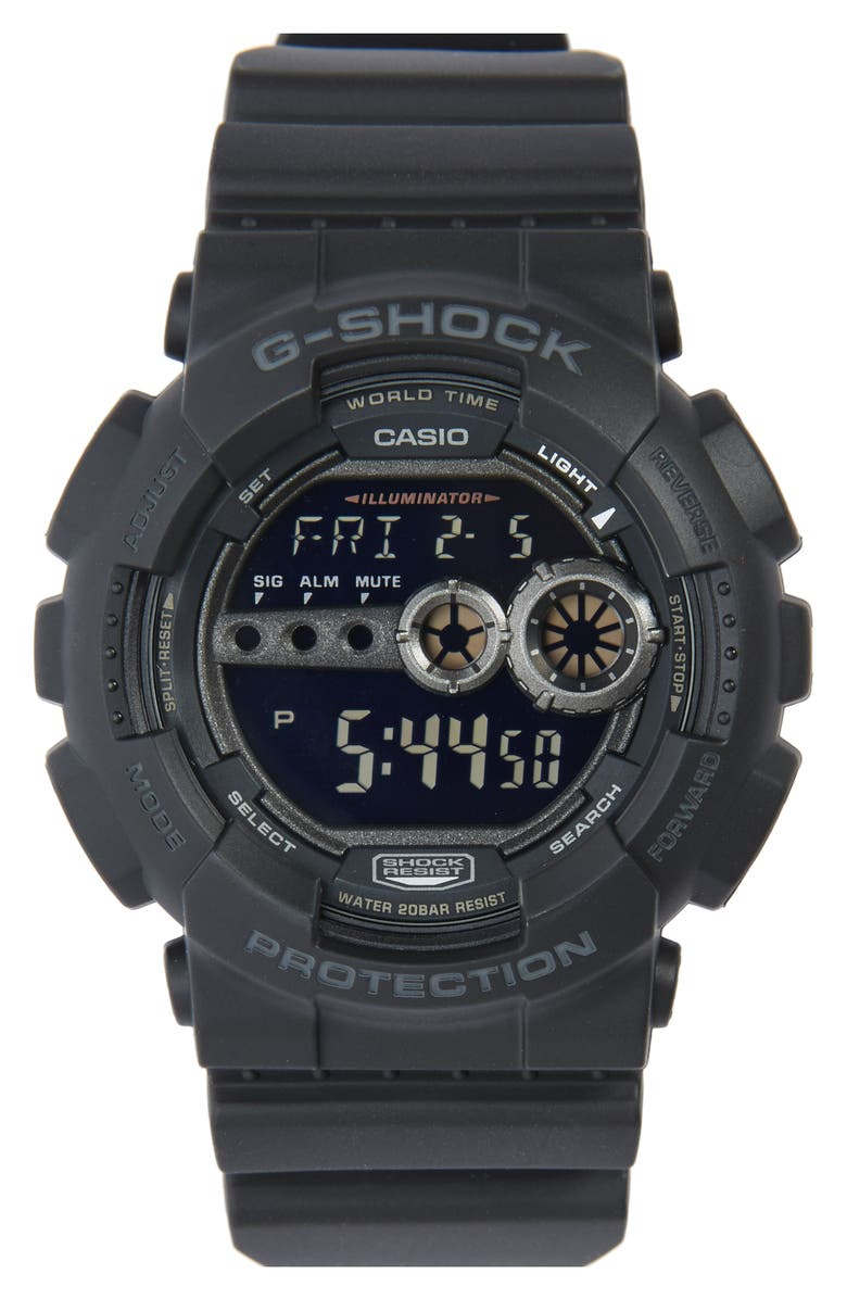 G-SHOCK BABY-G G-Shock 'Super Luminosity' Digital Watch, 48mm, Main, color, 001