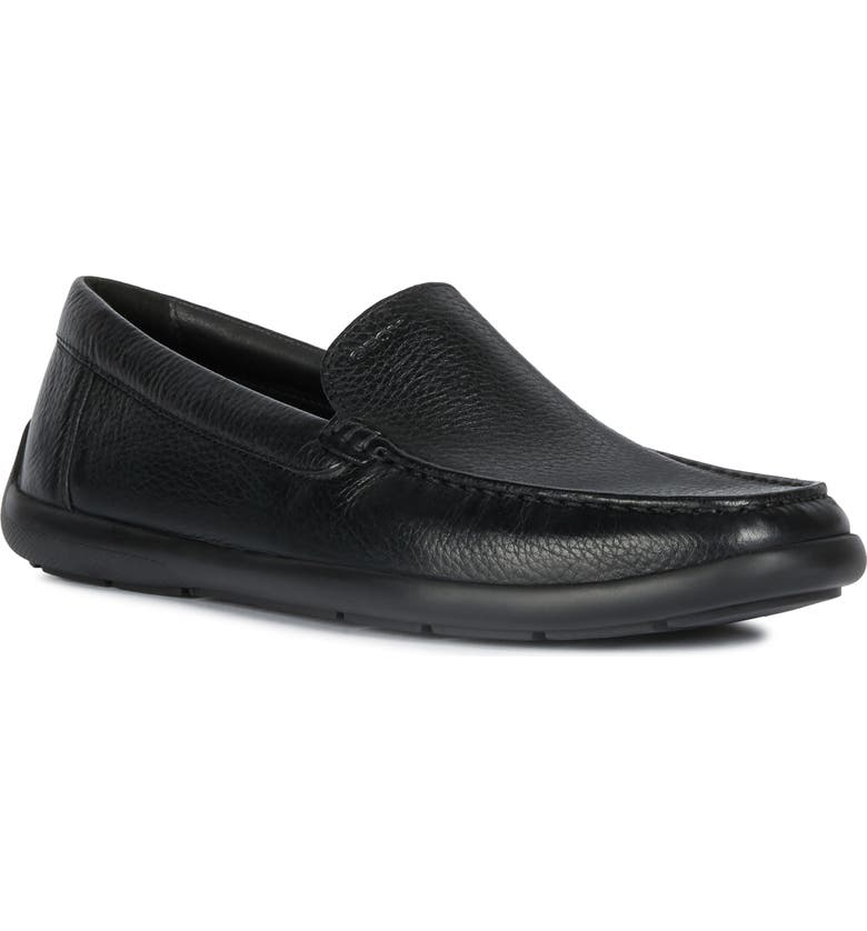 GEOX Devan Water Resistant Driving Shoe, Main, color, BLACK