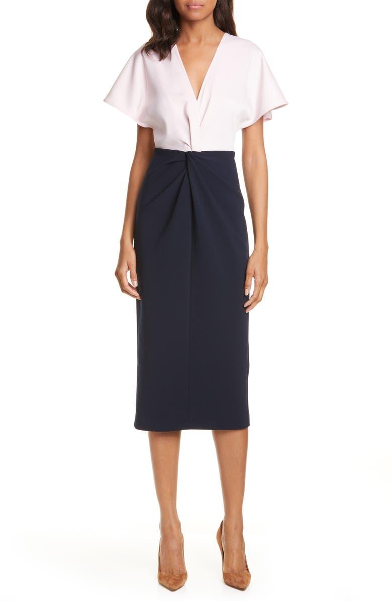 TED BAKER LONDON Ellame Two-Tone Sheath Dress, Main, color, 410