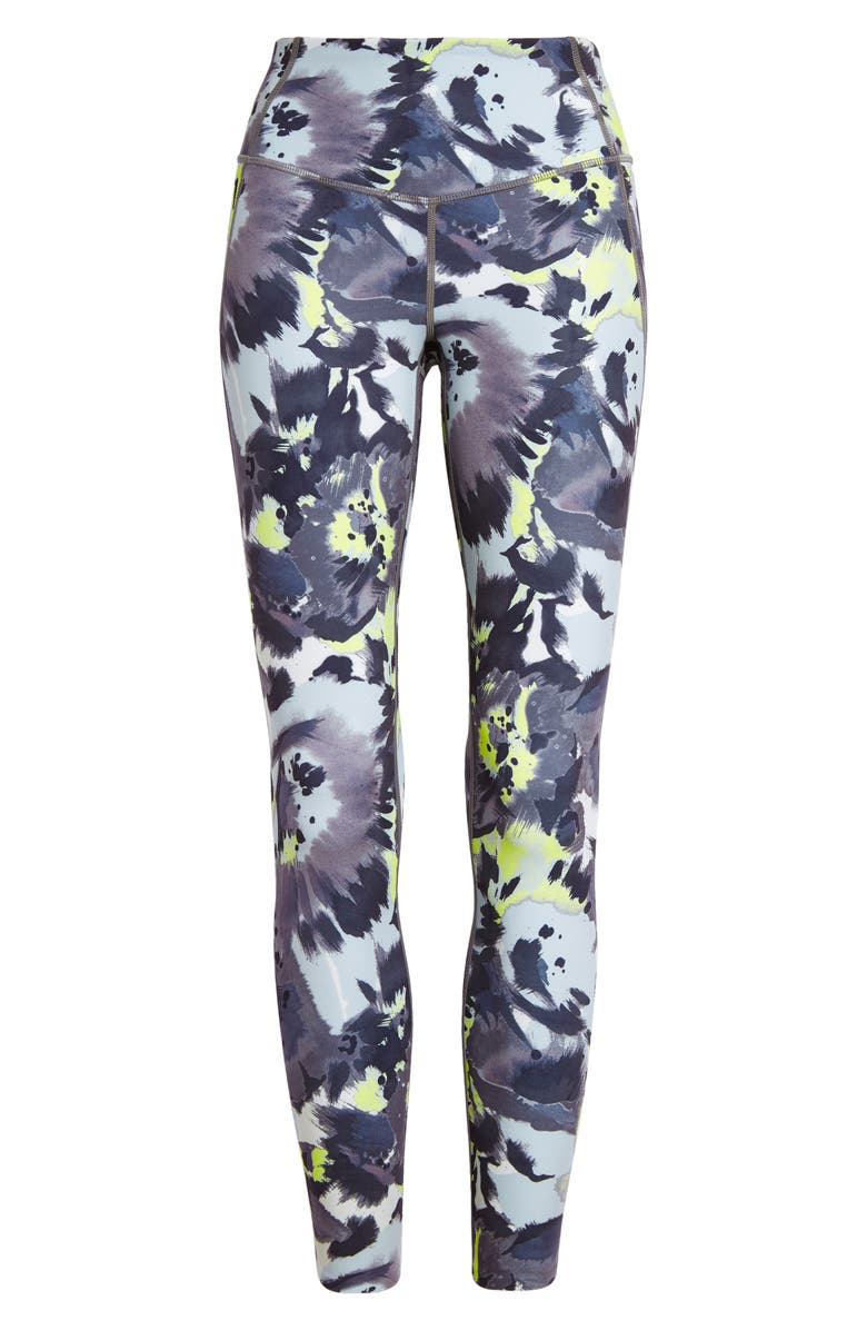 ZELLA Studio Lite High Waist Pocket 7/8 Leggings, Main, color, GREY SHADE TIE DYE BLOOMS