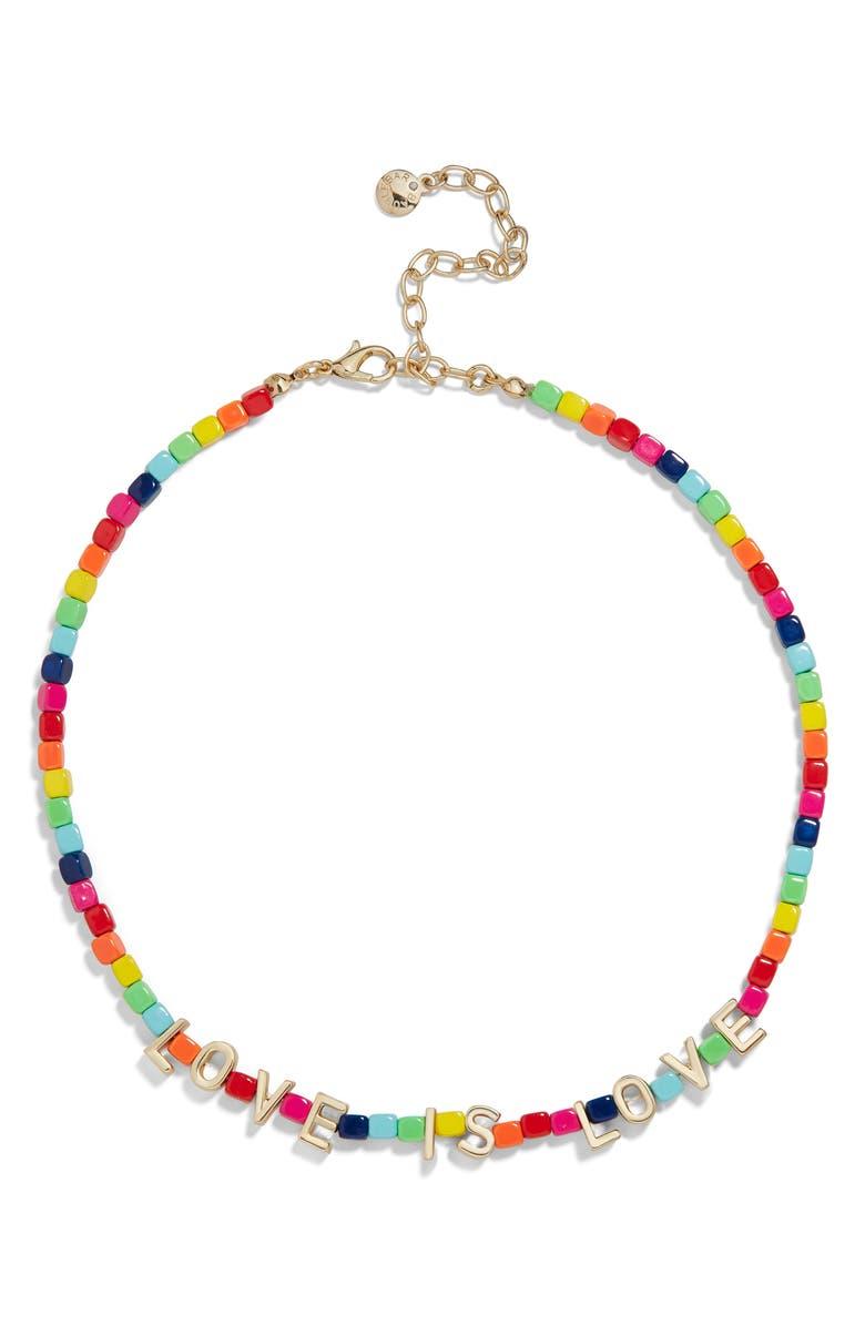 BAUBLEBAR Love Is Love Beaded Necklace, Main, color, RAINBOW