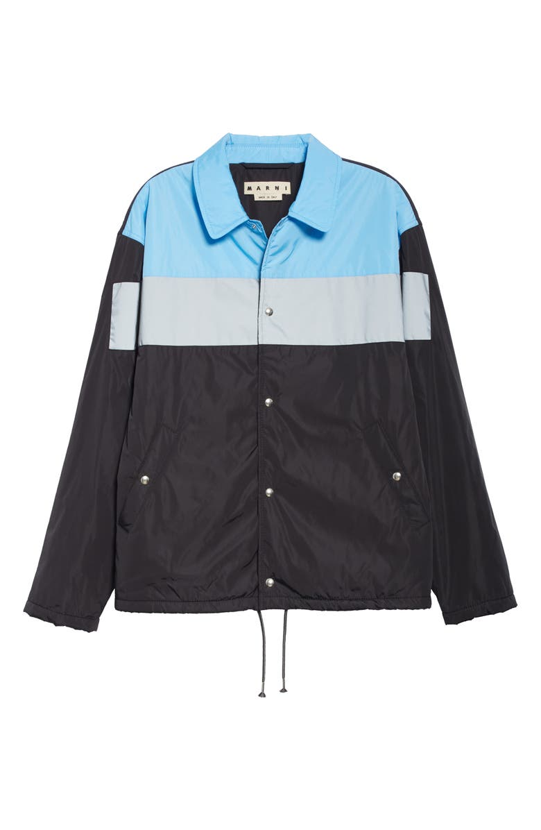 MARNI Nylon Jacket, Main, color, NERO / LIGHT BLUE